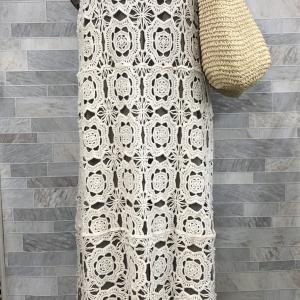 コットンレース編みでリラクススタイル。~50代からの今をおしゃれにコーデ!~㉚