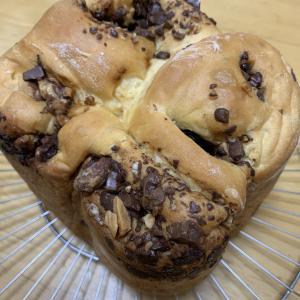 ナッツとチョコのうずまきパン
