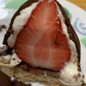 オザワ洋菓子店の苺シャンデ真似して作ってみました^_^