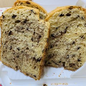 チョコチップブリオッシュ食パン♪