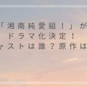 湘南純愛組の実写化キャストは誰?原作者や関連作品についても調査!