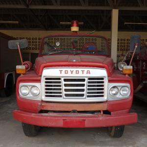 タイの田舎で発見❗️日本の消防車🚒