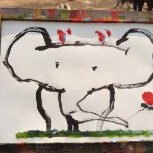 ゾウが描いた絵🐘