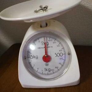 ネックレスの重さ。