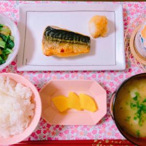 【食事】グリルでパリッとサバの塩焼き☆