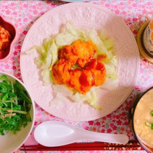 【料理】鶏むね肉のヤンニョムチキン☆