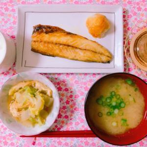 【料理】鯖の塩焼き×白菜の煮浸し☆