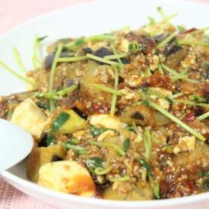【レシピ】野菜もたっぷり摂れる! 豆苗&なす入り麻婆豆腐