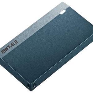 超小型ポータブルSSD 250GB モスブルーを使ってみた。