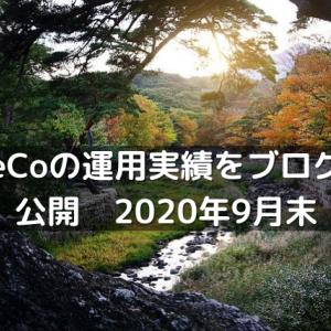 iDeCoの運用実績をブログで公開 2020年9月末