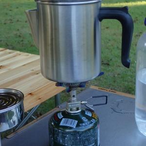 【キャンプギア】朝起きたときには美味しいコーヒー飲みたいよね!パーコレーターってよく聞くけどどんな物なの?