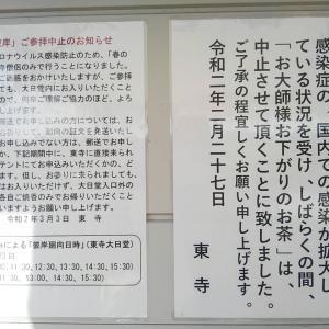 東寺もコロナウイルスの影響ありました