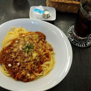 前田珈琲「文博店」でアイスコーヒーとミートソーススパゲティ