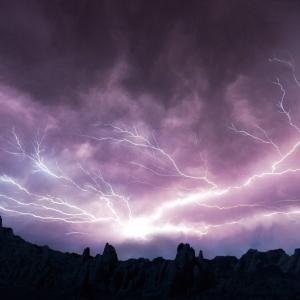 すごい雷でした