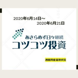 2020年6月21日まで週間資産運用状況
