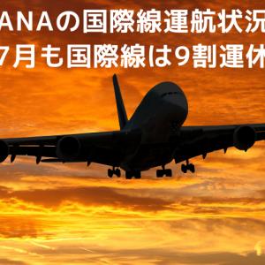 ANAの国際線運航状況【7月も国際線は9割運休】