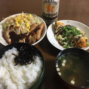 晩ごはん(ポークソテー) 2020.4.6