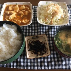 昼ごはん(麻婆豆腐) 2020.4.10