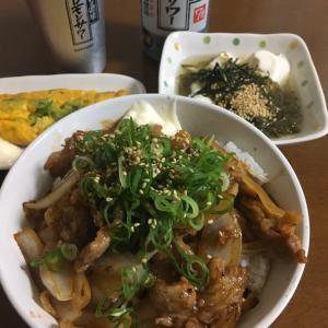 今日のごはん(焼肉丼) 2020.7.26
