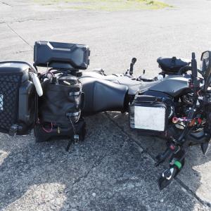 バイクの損傷具合