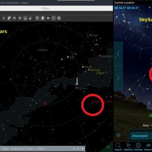 Astroberry で天体撮影  3. SkySafariでAstroberryを動かす