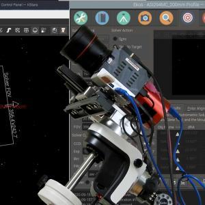 Astroberry で天体撮影 9. Plate SolvingのAZ-GTiマウントでのテスト・ラン