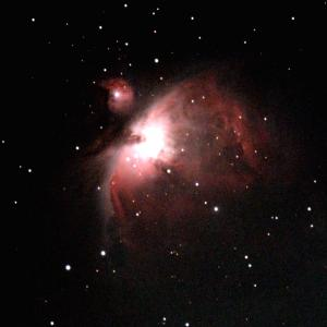ASiLiveでオリオン大星雲M42を観望。 光害カットフィルターが活躍。