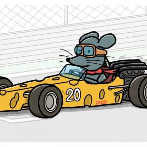 Cheese Racing(2020年 年賀用イラスト)