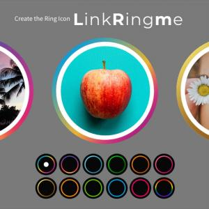 SNSアイコンにリングデザインをつける方法