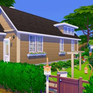 島の小さな家