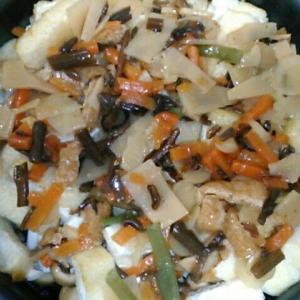 山菜五目炊き込みご飯を作った話