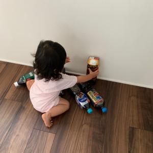 キッチン扉の安全策とペットボトルコーヒー達