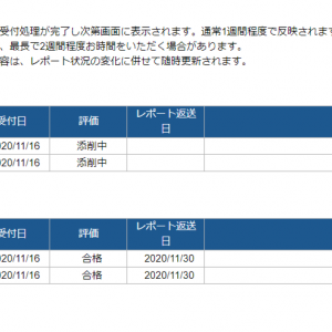 2020.11.30 人生初レポート英語Ⅰ合格!