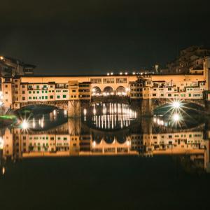 【イタリア旅行記35】フィレンツェの朝、近づいてくるポンテ・ヴェッキオ