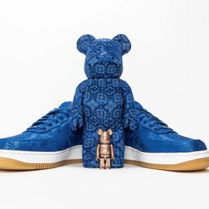 """CLOT × Nike Air Force 1""""ROYALE UNIVERSITY BLUE SILK"""" MEDICOM TOY BE@RBRICK【6/18発売】クロット ナイキ エア フォース ワン ロイヤル ユニバーシティ ブルー シルク メディコム トイ ベアブリック"""