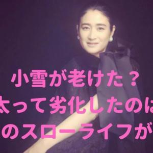【画像】小雪が老けた?太って劣化したのは北海道の別宅スローライフが原因?