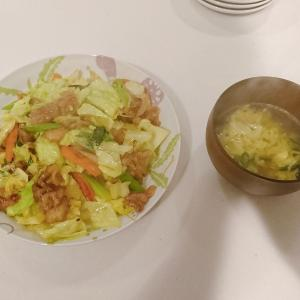 簡単!中華風野菜炒め+中華卵スープ