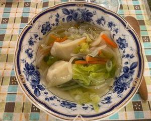 野菜スープ餃子