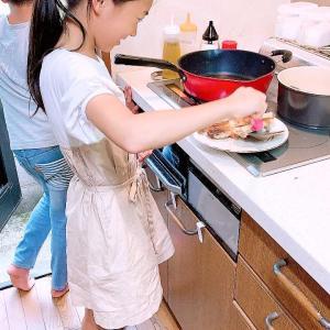 敬老の日に孫が料理でお祝い