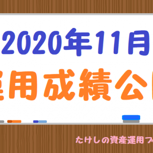 【2020年11月】運用成績公開