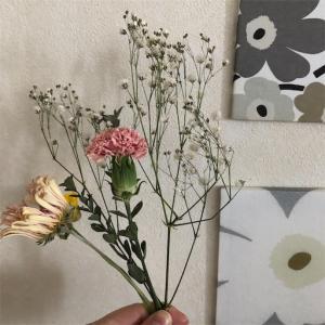 【インテリア】簡単*花束をドライフラワーに