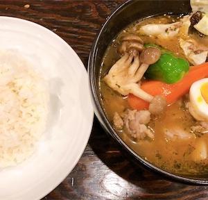 【ランチ】帯広白樺通りスープカレー*閉店前に食べ納め*ラムひき肉カレーが絶品