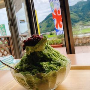 静岡県静岡市葵区にある佐藤園の直売所&お茶cafeで頂く、抹茶かき氷 あんこ好きがお送りする第73話
