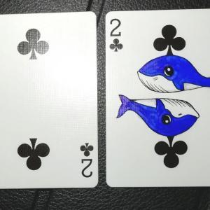 ♣2に現れた「クジラさん」🐳