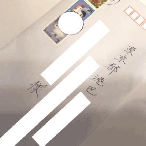 パパからの郵便!パパの字を見て安心