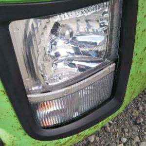 トラックのフォグランプ交換