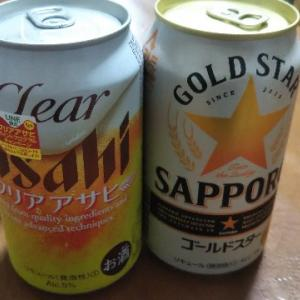 6月24日の晩酌♪発泡酒、焼酎
