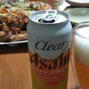 9月17日の晩酌♪クリアアサヒと白ワイン