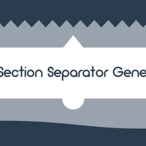 手軽にHTMLとCSSからセパレーター(区切り線)を作成するツール「CSS Section Separator Generator」