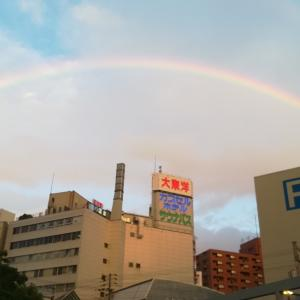 2019年7月26日18時55分頃、虹。